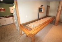 Montana Shuffleboard Table / McClure's Montana Shuffleboard Table is built with hand-peeled wood logs using a drawknife. With its variety of wood and finish options, this natural and earthy table will make your man cave complete.
