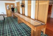 Competitor II Shuffleboard Table / The perfect furniture for your game room or man cave, McClure's Competitor shuffleboard table features a 18'' by 2'' hard maple playing field with a specially formulated finish.