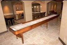Prestige Shuffleboard Table / The Prestige shuffleboard table is a classic shuffleboard model and makes the perfect furniture for a transformed garage or man cave.