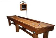 Ponderosa Shuffleboard Table / The Ponderosa shuffleboard table is made using a unique rustic design and we build each quality Ponderosa shuffleboard table using rustic pine or with oak at no extra charge.