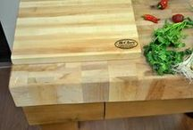 Butcher Block Cutting Boards / ur superior butcher block cutting boards can handle any large-scale cutting that your cooking requires. Crafted by hand in our Grand Rapids workshop, each piece is made by our master craftsmen using only the finest quality. www.mccluretables.com