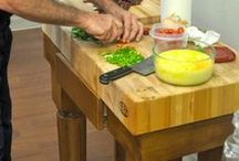 All American Kitchen / #MadeInAmerica products, from Monogrammed plates to our Butcher Block Kitchen Island.