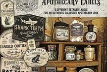 Halloween Printables / Apothecary labels, signs,