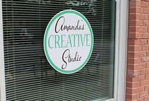 Amanda's Creative Studio, Amanda Formaro / My new studio space is filled with items I have purchased or made to make it my own. Some of these were just inspiration and some were items I thought about buying. Many are tutorials and DIY's!