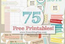 Printes labels/tembel