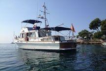"""Cruceros Mansaya / Passend zu meinem Artikel über Kapitän Salvador und seine """"Nostromo I"""" hier ein paar schöne Bilder von der Grand Banks-Yacht.  Und hier geht´s zum Artikel http://www.mallorca-talks.com/mallorca-boot-fahren-mit-salvador/"""