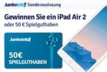 Februar Gewinnspiel / Gewinne ein iPad Air 2 oder 50 € Spielguthaben -  In Februar verlosen wir ein 16 GB iPad Air 2 sowie 10 mal 50 Euro Spielguthaben unter allen Kunden, die im Februar mindestens 2 Spielscheine gekauft haben.