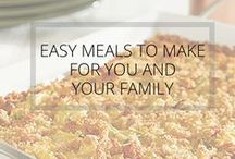 KCC: Easy Meals For You and Your Family / Easy meals to make for your family from Kid Care Concierge—your go to guide for all things parenting and life management!
