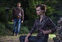 Automne/Hiver 2014-2015 / Shooting d'images La Canadienne - Collection automne/hiver 2014 #man #woman #leather #jacket #coat