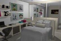 Dormitórios / Projetos de dormitórios de casal e solteiro