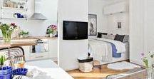Aménagement studio / Mes inspirations pour l'aménagement d'un studio ou d'un petit espace.