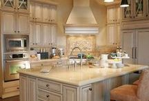 designer kitchens / I love the open concept kitchens. Everyone tends to end up there during parties.