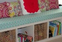 Ikea Hacks and Bookshelves / by Brenda Frugality