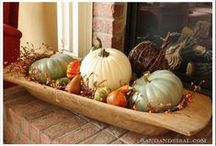 Fall home decor / Fall decorating at it's best.