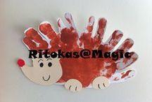My work with kids / Trabalhos realizados com as crianças