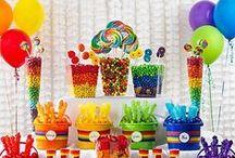 Rainbow Birthday theme.