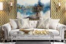 glam decor / Some amazing furniture and art from Zgallerie.  These are definitely my style.