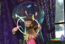 Woman's Board visit with Bubble Wonders Show / Marletta Darnall Schaumburg Child + Family Center
