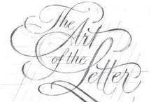 The ART of the LETTER                              (Az írás művészete) / Tipography + Monogram + Logo  etc.