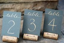 Reception Table Numbers / Find creative ways to design your table numbers for just about every wedding theme.