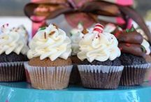 Cupcakes galore! (events) / Cupcake DownSouth caters a ton of events... everything from bridal showers to backyard Independence Day bashes to corporate Christmas parties! Here are some photos from just a few / by Cupcake DownSouth