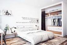 Arquitectura / Bedrooms / Diseño de interiores, habitación de matrimonio, habitación de niños, camas