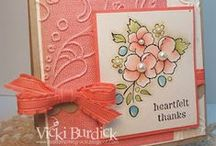 Bordering on Romance-Retired / Cards and ideas using Stampin' Up! Bordering on Romance stamp set.