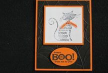 Halloween Cards / Made using various Stampin' Up! stamp sets to make wonderful Halloween cards!