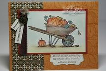 Always Thankful-Retired / This is a board made up of cards and ideas using Stampin' Up! Always Thankful (retired) stamp set.