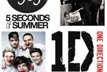 <3 / 5 SECONDS OF SUMMER AND ONE DIRECTION