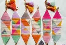 Crochet bookmarks, tags