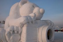 Snow Sculptures / An incredible board filled with amazing snow sculptures from around the world. Why not head to the snow and stay at Elm Cottages and try your hand and creating a masterpiece! www.elmcottages.com.au
