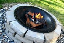 Cozy Campfires / A collection of amazing and ingenious camfire set ups and fire pits