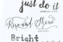 Fonts / Fuentes, escritura, letras, letreros, lettering