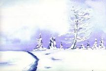Snowy Mountain Art - Adult / A collection of Snowy Mountain art. #snowymountains #art #nature