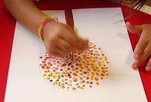 Tree Art - Kids / A collection of Tree Art for kids to create. #treeart #artforkids #trees #art #spring