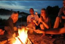 Campfire Games / A collection of games to play around the campfire. Fun for the whole family! #campfiregames #campfire #bonfire #familygames #drinkinggames #camping