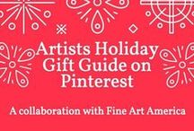 Artists Holiday Gift Guide - Fine Art America / A holiday gift guide collaboration board with some of our favorite Fine Art America artists. See their suggestions and favorite holiday ideas here!
