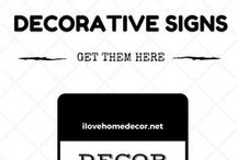 Decorative Signs - Products / Decorative Signs for your Primitive Home Decor Design.