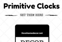 Clocks - Products / Primitive Home Decor And House Design Clocks