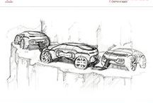 ° TRANSPORTATION SKETCH ° / Sketch -- Doodle -- Cars -- Sketches -- Transportation -- Motorbike -- Trucks
