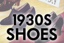 1930s Shoes / Shoes from the 1930s, and '30s style modern shoes