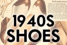 1940s Shoes / Shoes from the 1940s, and modern '40s style shoes