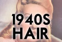 1940s Hair Styles / 1940s hair styling inspiration and how-to's