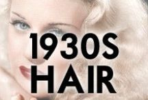 1930s Hair Styles / 1930s hair styling inspiration and how-to's