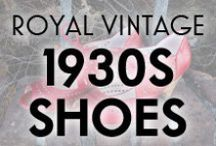 Royal Vintage 1930s Shoes / 1930s style shoes for day and evening, available from Royal Vintage Shoes