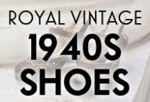 Royal Vintage 1940s Shoes / 1940s Slingbacks, Oxfords, Platforms, and more, available from Royal Vintage Shoes