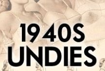 1940s Undies, Girdles, Corsets / 1940s underwear, underpinnings, corsets, bras, girdles and more. Learn what women wore under their clothes in the 1940s