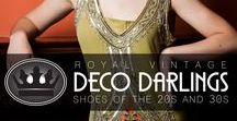 Royal Vintage Deco Darlings Collection / Meet our Art Deco inspired collection of 1920s and 1930s shoes. Lillian, Evelyn, and Roxy are each made in high quality materials and offer reproduction Spanish heels and arch support.
