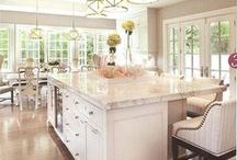 Kitchen / Love big, open, airy kitchens where the sun can spill in and the family can enjoy making and sharing a meal together. / by Vivian Duran